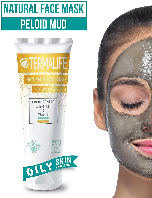 TERM Alife Sebium Control Maschera di fango–Maschera per il viso per pelle grassa–contro brufoli, punti neri, Acne–Cosmetici naturali per viso e corpo–naturale in microfibra e peeling–150G Yakaza Group