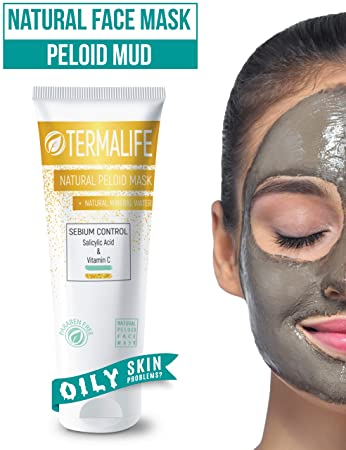 Termalife Peloid Face Mask | 5.1 oz Natural Facial Mask For Deep Pore Cleansing | Treatment