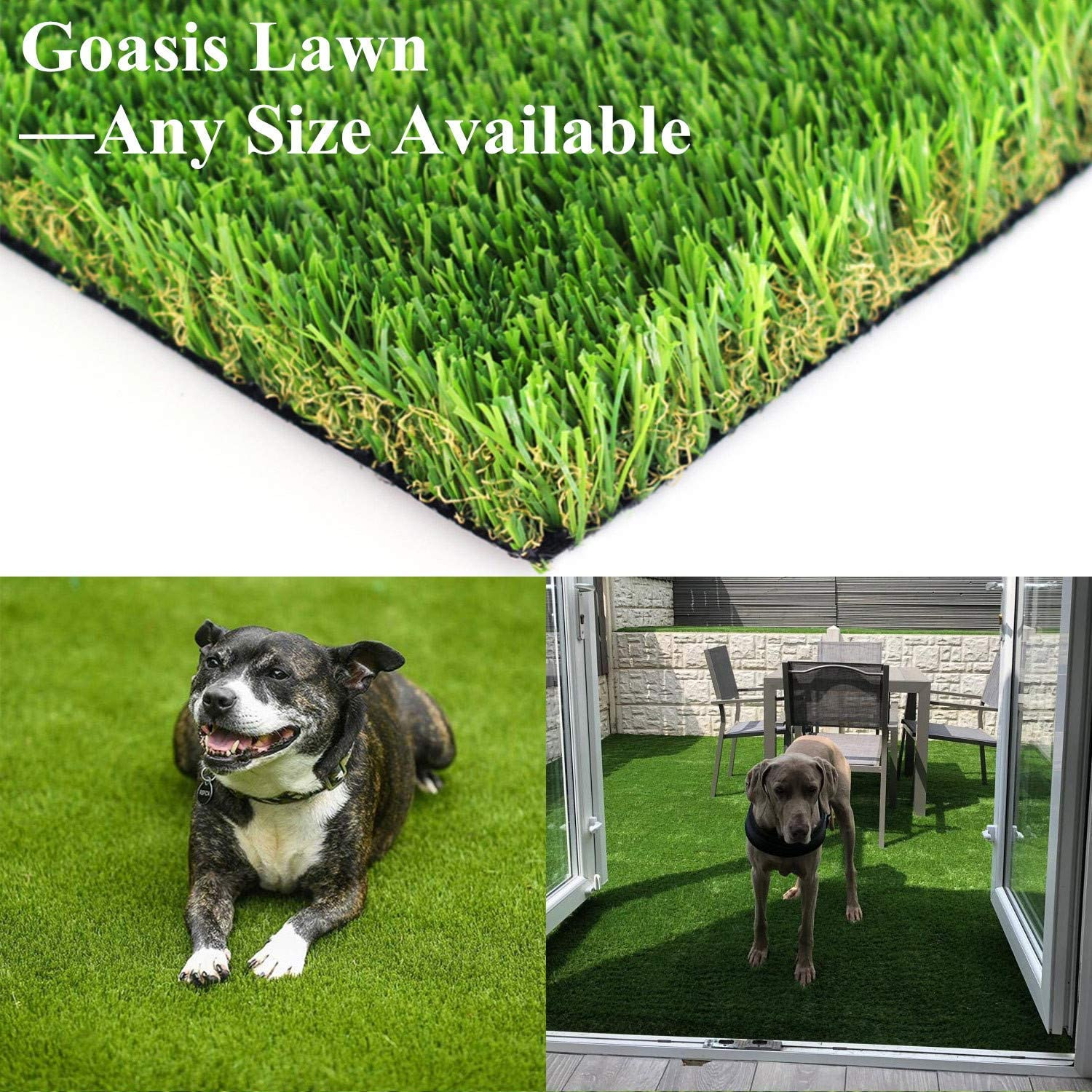Realistic Artificial Grass Turf - 3.3FTX5FT(16.5 Square FT) Indoor Outdoor Garden Lawn Landscape Synthetic Grass Mat