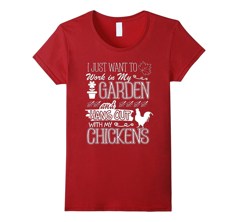 Funny Gardening Chicken Gifts T Shirt Chiken Lover Gardening
