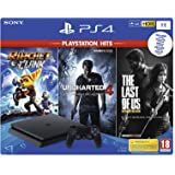 PlayStation 4 (PS4) - Consola de 1 TB + Ratchet And Clank + Uncharted 4 + The Last Of Us [Bundle]