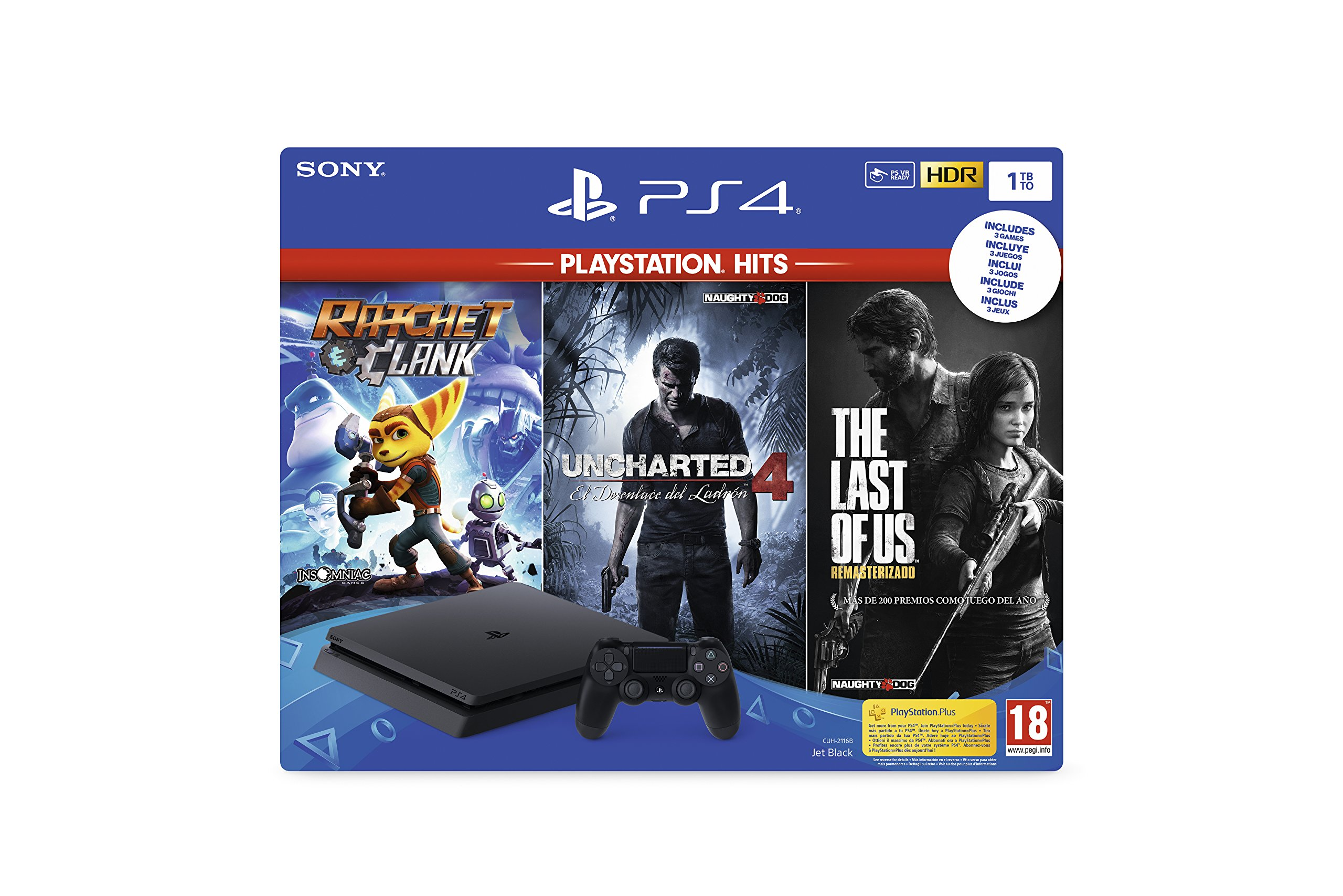 Playstation 4 (PS4) - Consola 1TB + Ratchet & Clank + The Last of Us + Uncharted 4: Sony: Amazon.es: Videojuegos