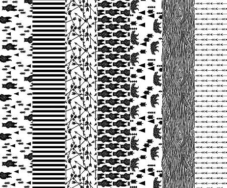Bears fabric nursery quilt fabric black and white bear woodland nursery cheater quilt fabric by