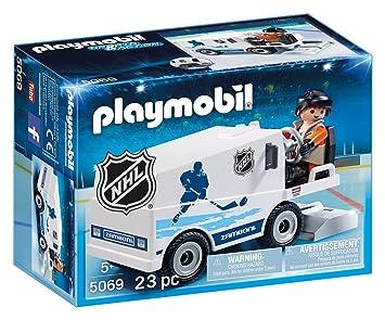 Amazon Com Playmobil Nhl Zamboni Machine Toys Games