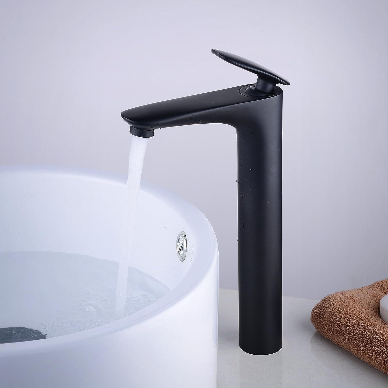 Messing Wasserhahn fur Bad Waschbecken mit Keramikkartusche und weiches Wasser Bel/üfter Kelelife Waschtischarmatur Einhebel,Chrom