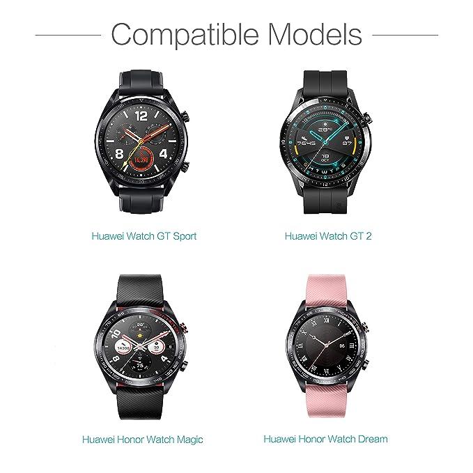 TUSITA Cargador para Huawei Watch GT Classic Sport, GT2, Honor Watch Magic, Honor Watch Dream - Cable de Carga USB 100cm Pinza de la Base - Reloj ...