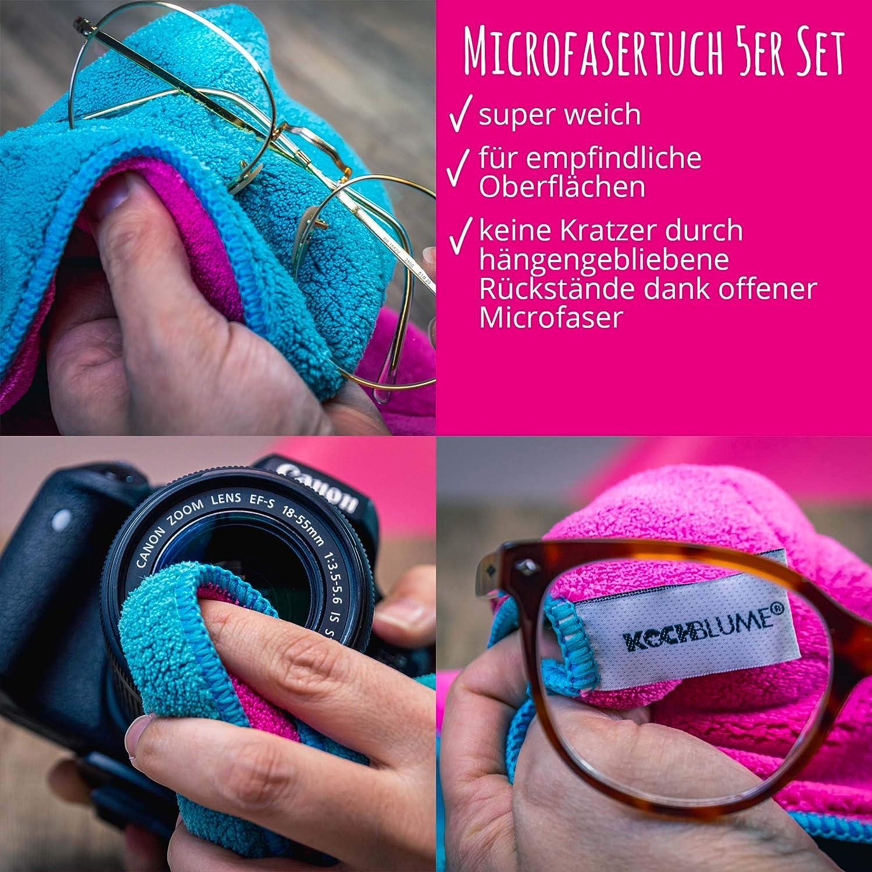 Kochblume Microfasertuch Set 5 Teilig Premium Microfaser Set In Der Pinken Box Pink Lila Drogerie Körperpflege