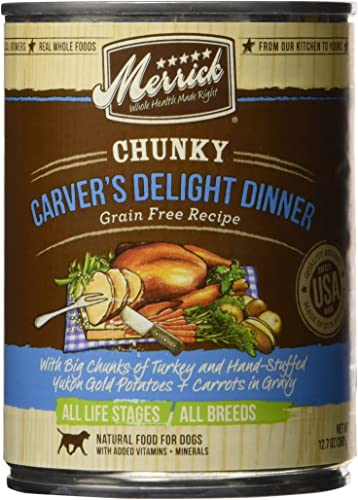 Merrick Chunky Grain Free Carvers Delight Dinner Canned Dog Food