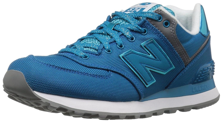 New Balance Women's WL574V1 Fashion Sneaker B01GRMFRNY 10 M US|Vivid Ozone/Blue/Vivid Ozone