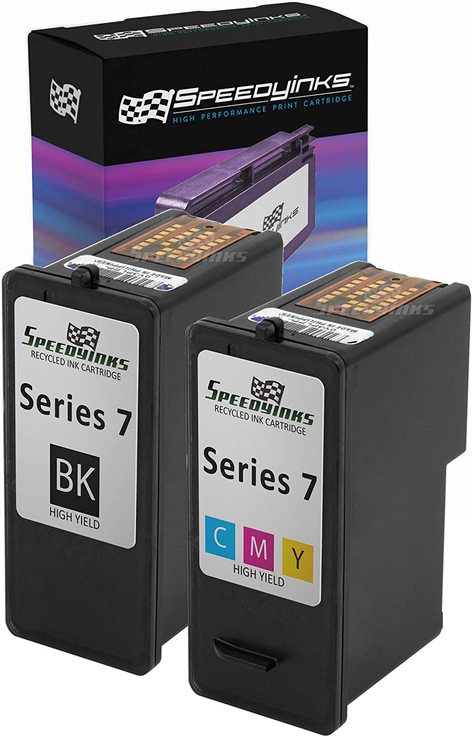 Speedy Inks Remanfactured Ink Cartridge Replacement for Dell GR274 & GR277 High-Yield (1 Black, 1 Color, 2-Pack)