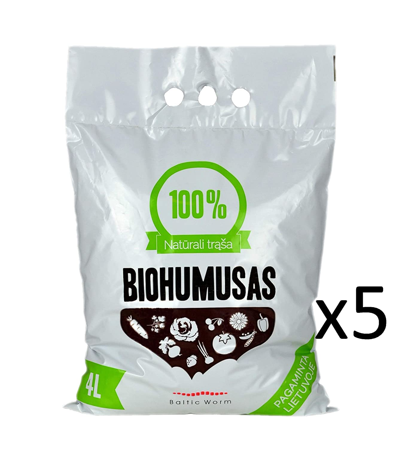 Organic Fertiliser - Pure Worm Castings by Baltic Worm | Multi Purpose Natural Fertilizer- Vermicompost, Soil Builder, Worm Humus by Red Wigglers 4 Litres Baltic Worm Ltd.