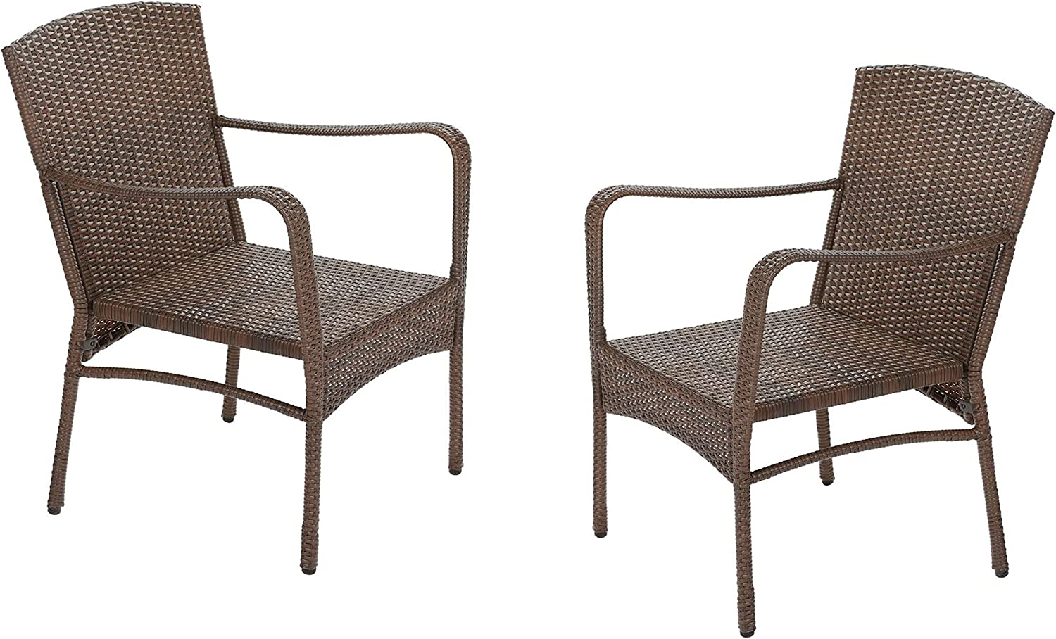 W Unlimited Leisure Collection Outdoor Garden Patio Furniture 2-PC Set Chair, Dark Brown