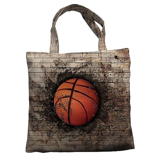 Amazon.com  Custom Brick Wall Basketball Sports Vintage Canvas Shoulder Bags  Handbags Tote Bags Shopping Bag  Shoes c9896eb48c553