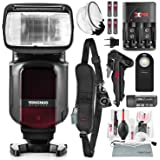 Yongnuo YN968N TTL Speedlite for Nikon Cameras with Flash Diffuser, Rechargeable Battery Kit, and Deluxe Photo Bundle