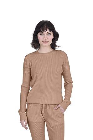 on sale 5b7c8 5e019 Cashmeren Women's 100% Pure Cashmere Long Sleeve Crew Neck Pullover  Loungewear Sweater