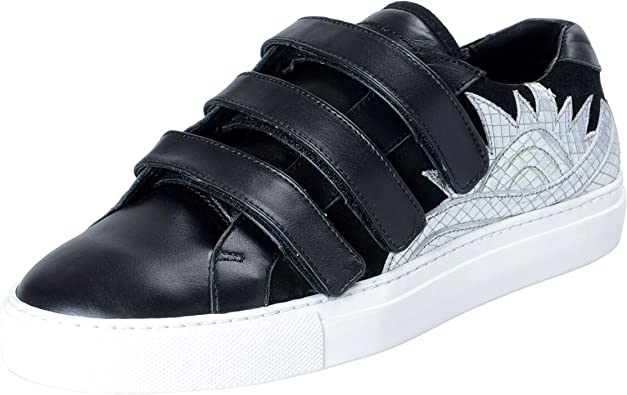 Textured Leather Fashion Sneakers Shoes