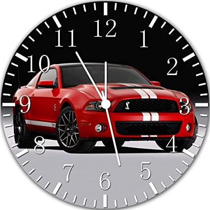 Mustang Frameless Borderless Wall Clock Y09 Nice For Gift or Room Wall Decor