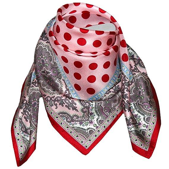 9c9f2a784f2e Lorenzo Cana Foulard pour la femme – écharpe de 100% soie pour le printemps  et