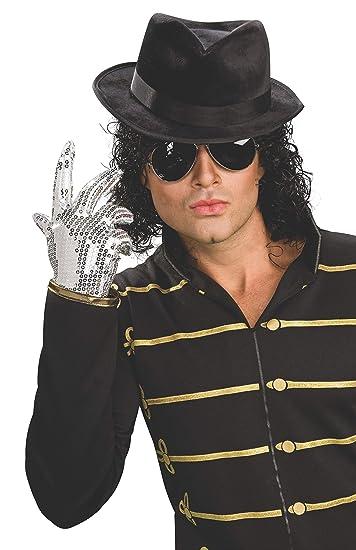 c9477b84ef9 Michael Jackson Adult Black Fedora Hat  Amazon.in  Clothing   Accessories