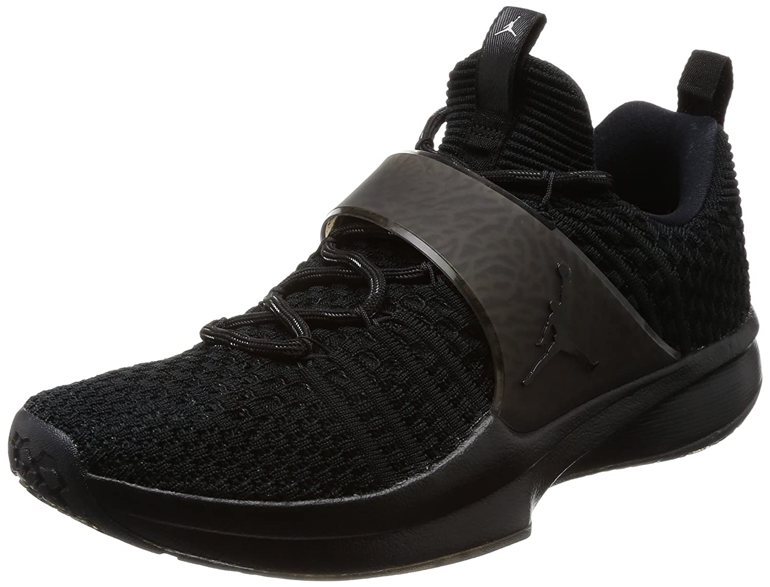 Jordan Trainer 2 Flyknit Men's Training Shoes B009GPI0FM 7 M US|Black/Black-metallic Silver