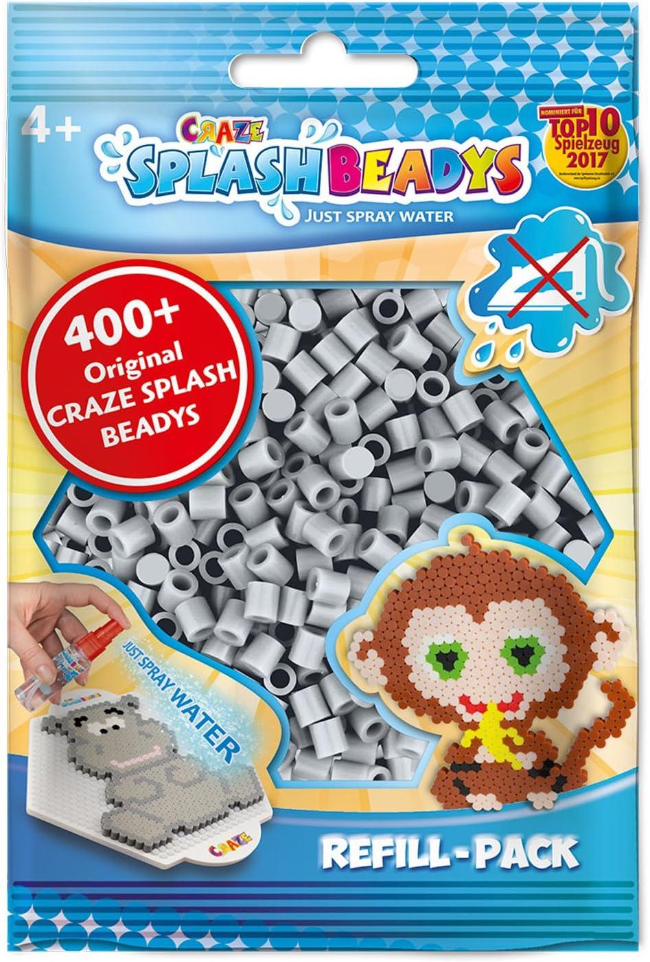 CRAZE- Cuentas de fusibles Fuse Splash BEADYS Juego de Recarga Perlas de reemplazo Craft Beads Paquete de Recambio Gris Claro 11935, Color: Amazon.es: Juguetes y juegos
