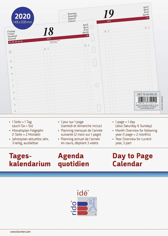 Amazon.com : rido/idé 706590020, daily calendar/schedule ...