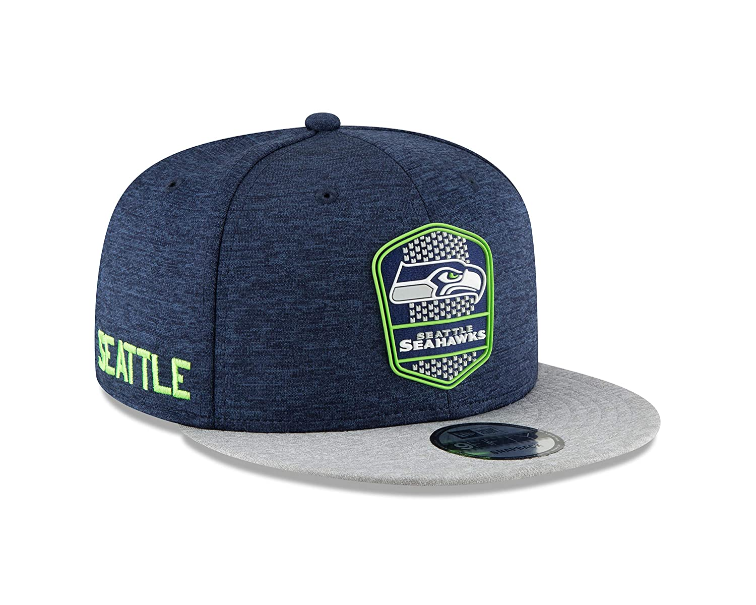 Amazon.com   New Era Seattle Seahawks 2018 NFL Sideline Road Official  9FIFTY Snapback Hat   Sports   Outdoors fc903bf5aa69