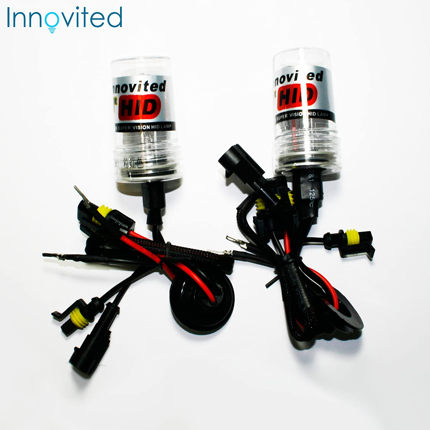Innovited HID Xenon Replacement Bulbs Lamp H4-1 9003 8000K (Low beam Only)