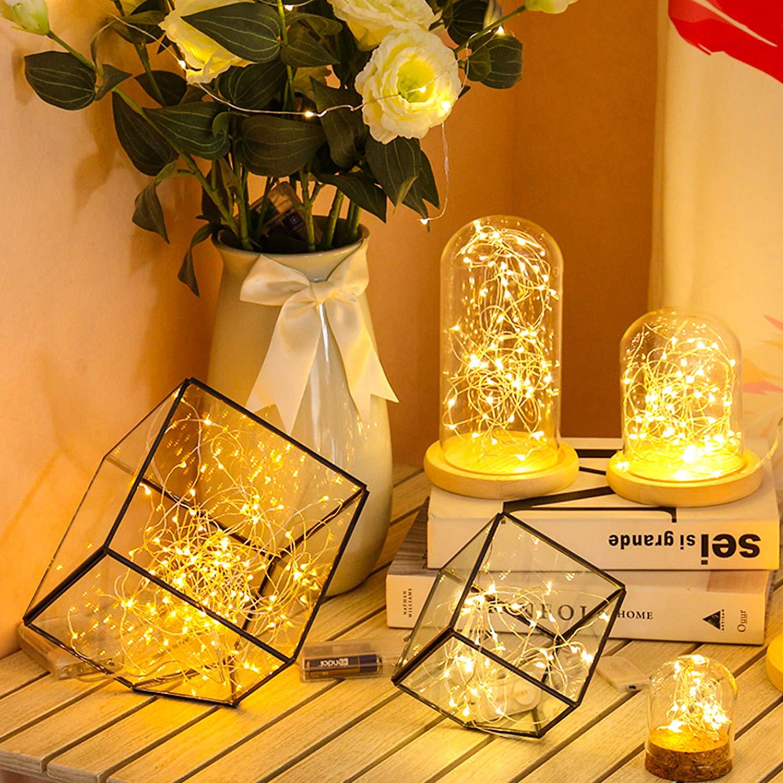 Cadena de Luces, iEGrow LED Luces 30M 300 LED Blanco Cálido con ...