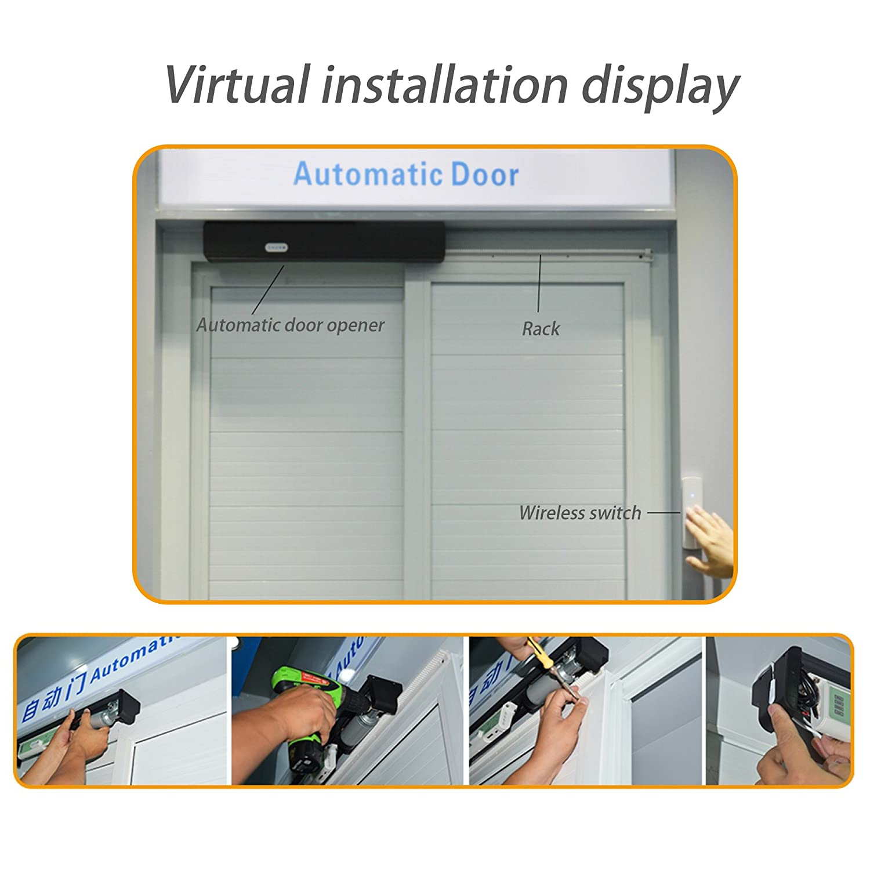 Amazon.com: NON ROCK Automatic Sliding Door Operator,Automatic Door Opener,  Electric Sliding Door Operator, Automatic Door Mechanism (White): Home ...