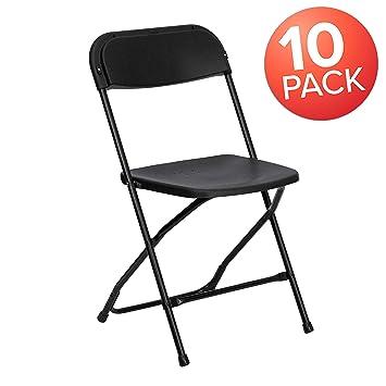 Wondrous Flash Furniture 10 Pk Hercules Series 650 Lb Capacity Premium Black Plastic Folding Chair 10 Le L 3 Bk Gg Unemploymentrelief Wooden Chair Designs For Living Room Unemploymentrelieforg