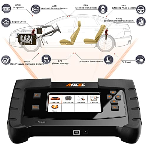 ANCEL FX4000 is one of the best car diagnostic tools that is well built with a large and high-definition TFT screen