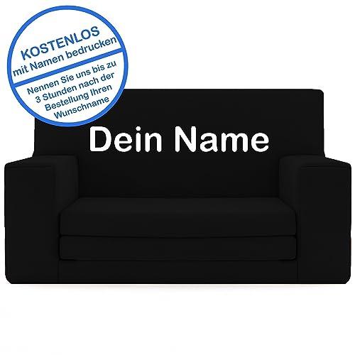 2 In 1 Kindersofa In Schwarz Mit Waschbarem überzug Als Geschenk Individuell Bedrucken Schaumstoff Aus Deutschland Spielzeug Couch Und Bett Schlaf