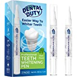 Dental Duty Teeth Whitening Pen (2 Pens), 35% Carbamide Peroxide Gel, 30+Uses, Stain Remover For Beautiful Pearl White…