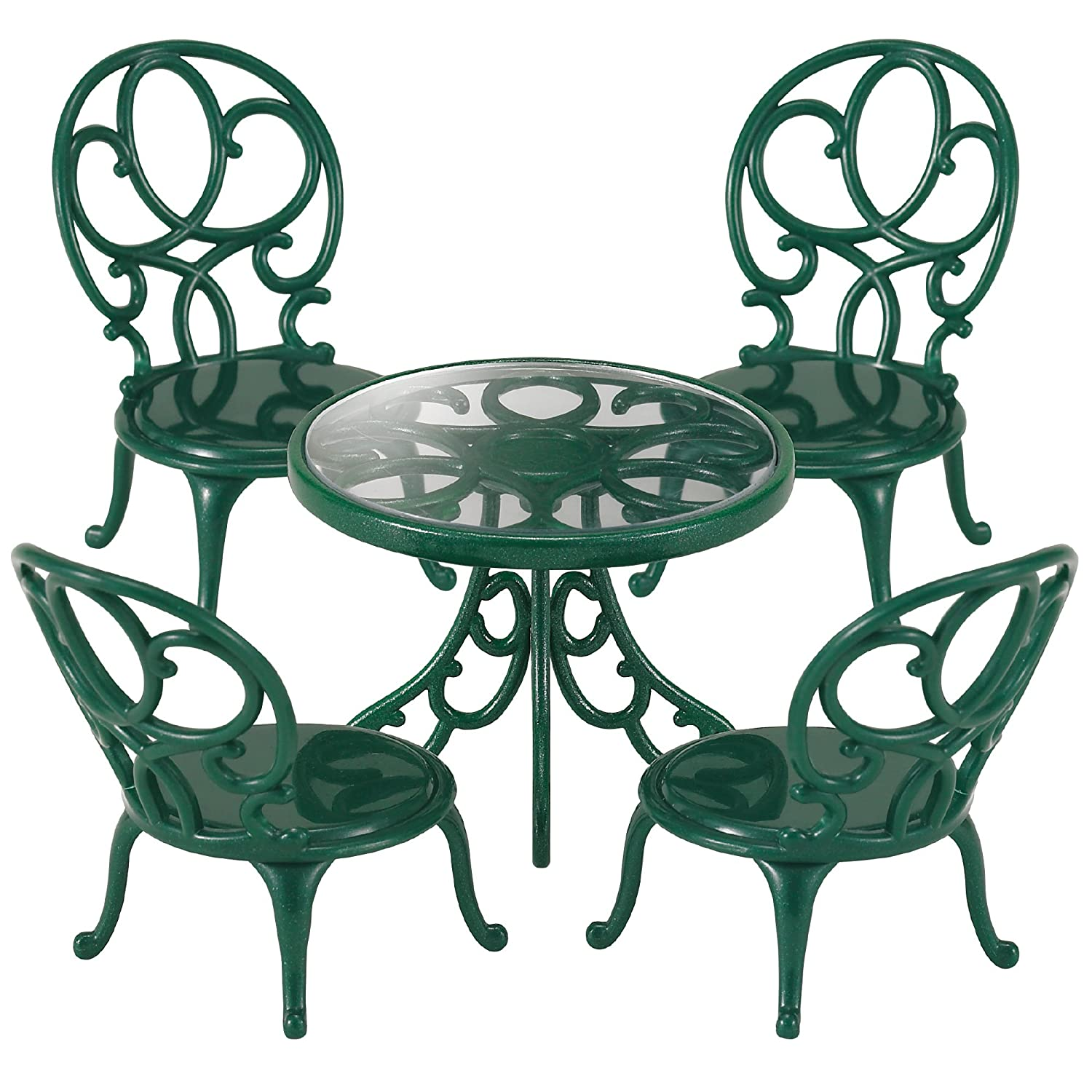 Garden Table And Chairs Part - 37: Sylvanian Families Ornate Garden Table And Chairs: Amazon.co.uk: Toys U0026  Games