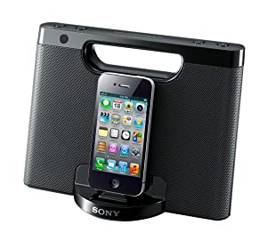 Sony RDPM7IP 30-Pin iPhone/iPod Portable Speaker Dock (Black) (Discontinued by Manufacturer)