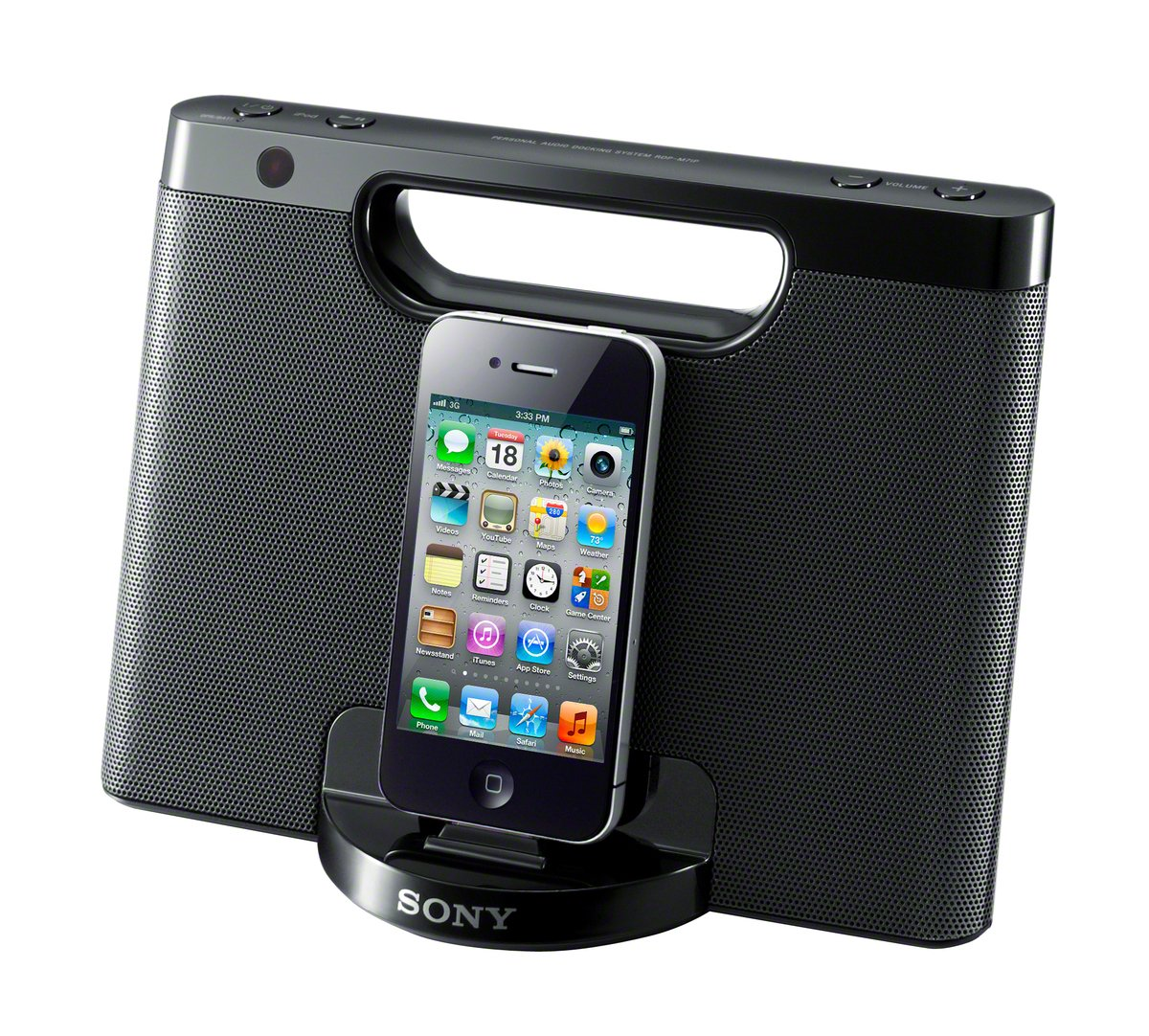 Sony RDPM7IP 30-Pin iPhone/iPod Portable Speaker Dock (Black) (Discontinued by Manufacturer) by Sony (Image #1)