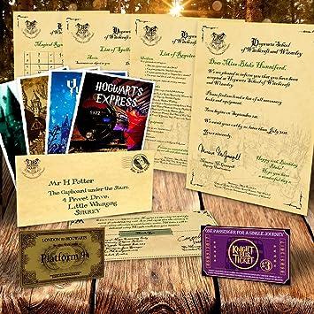 Personalised hogwarts acceptance letter harry potter amazon personalised hogwarts acceptance letter harry potter stopboris Images