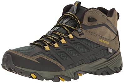 Merrell Men's Moab FST Ice+ Thermo Waterproof Winter Boot, Pine  Grove/Olive, 7