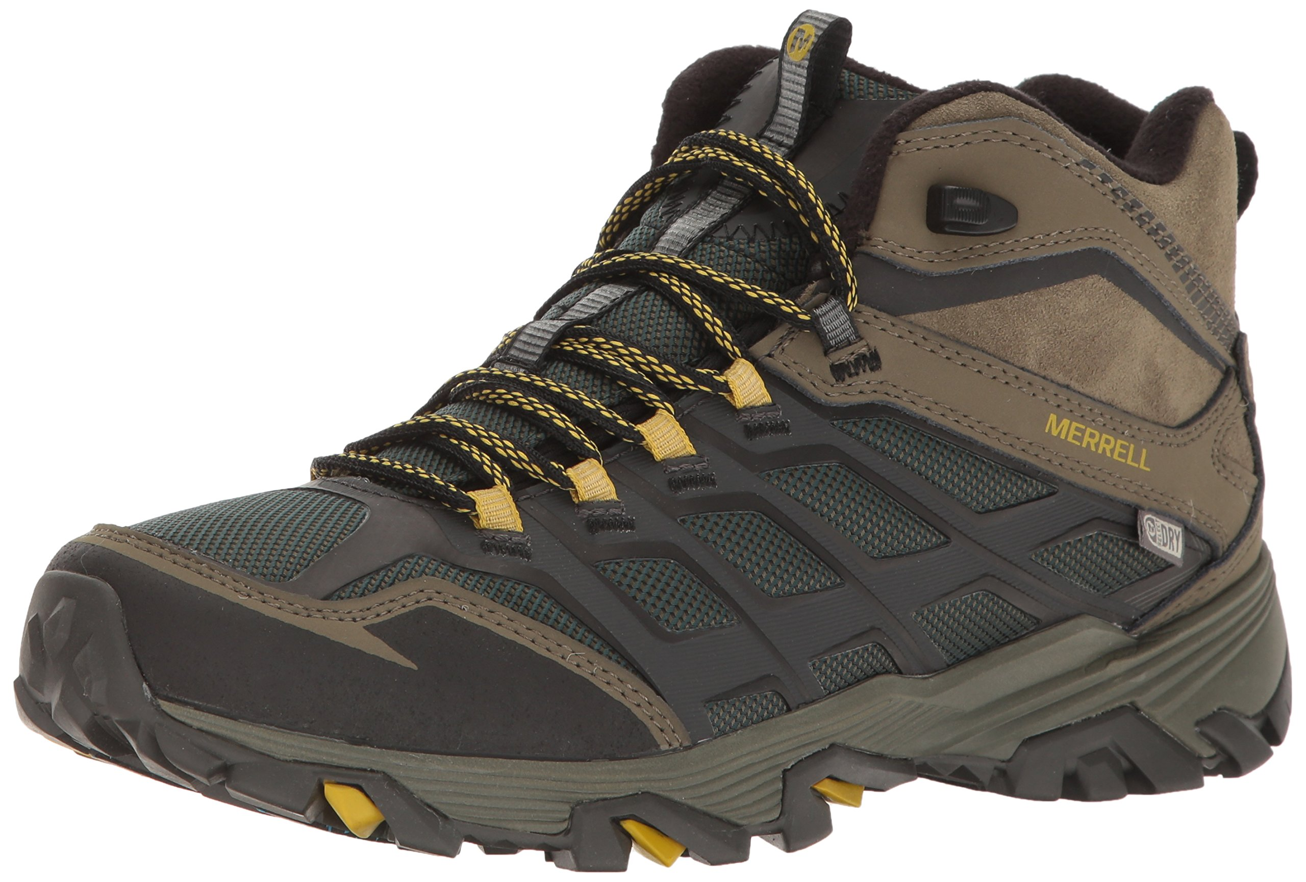 Merrell Men's Moab FST Ice+ Thermo Waterproof Winter Boot, Pine Grove/Olive, 9.5 M US