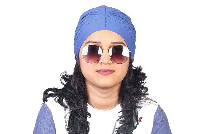 0f7e67fe76144 BLUE CHEMO BEANIES CANCER CAPS WOMEN SUMMER CHEMO CAPS SLEEP TURBAN FOR WOMEN  UNDERSCARF CAPS UNDER