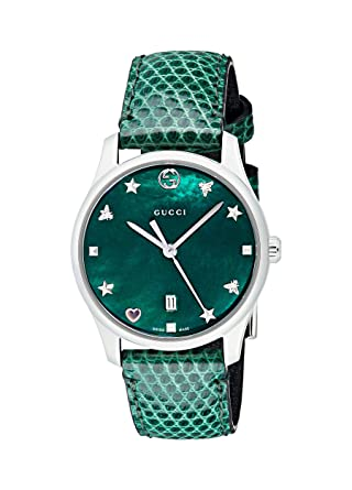2509888c835 Image Unavailable. Image not available for. Color  GUCCI G-TIMELESS ladies  29 MM watch YA126585