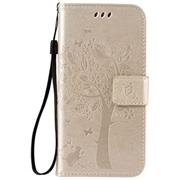 Oukety Funda Samsung S7, Carcasa PU Leather con TPU Silicona ...
