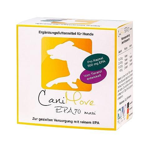 100 Kapseln (1 Packung) EPA70 maxi, Ergänzungsfuttermittel für Hunde mit hochkonzentrierter Eicosapentaensäure (EPA als TG) z