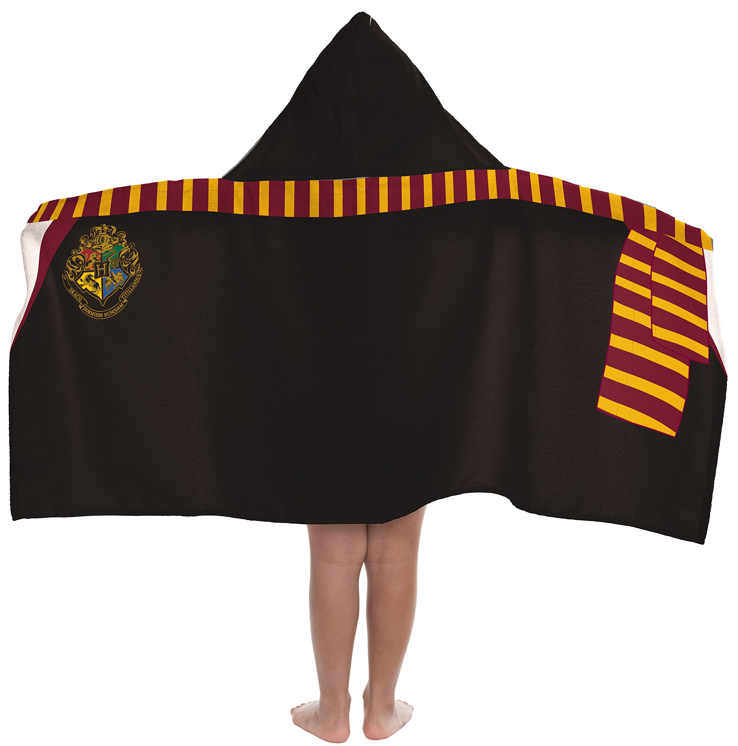 Warner Bros. Harry Potter Soft & Absorbent Kids Hooded Bath/Pool/Beach Towel, Featuring Gryffindor Wizard Cloak - Fade Resistant Cotton Terry Towel, 22.5''Inch x 51''Inch (Official Harry Potter Product)