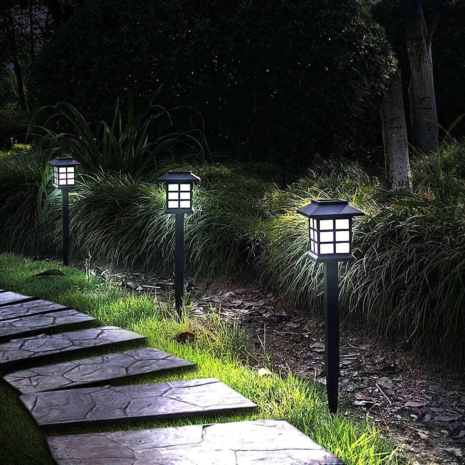 Otdair Solar Path Lights Outdoor - Waterproof LED Solar Pathway Lights Outdoor for Yard, Garden, Path, Landscape, Patio, Walkway, 12 Pack