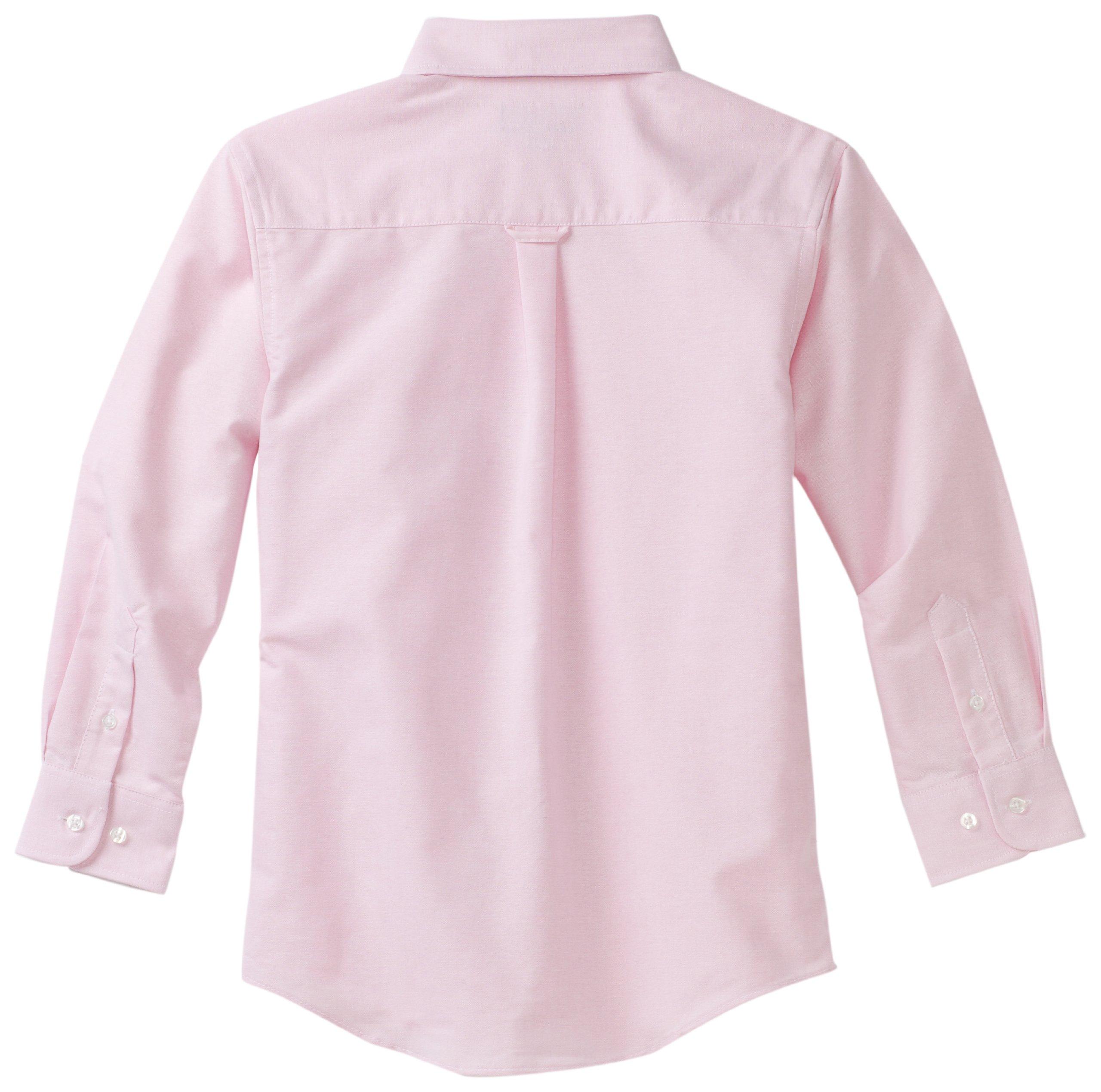 Izod boys Long Sleeve Solid Button-Down Oxford Shirt, Medium Pink, 20 Regular by IZOD (Image #2)