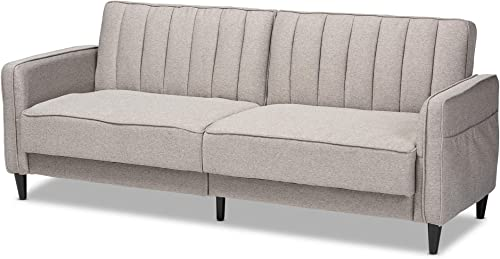 Baxton Studio Futons Sofa Beds, Grey Walnut