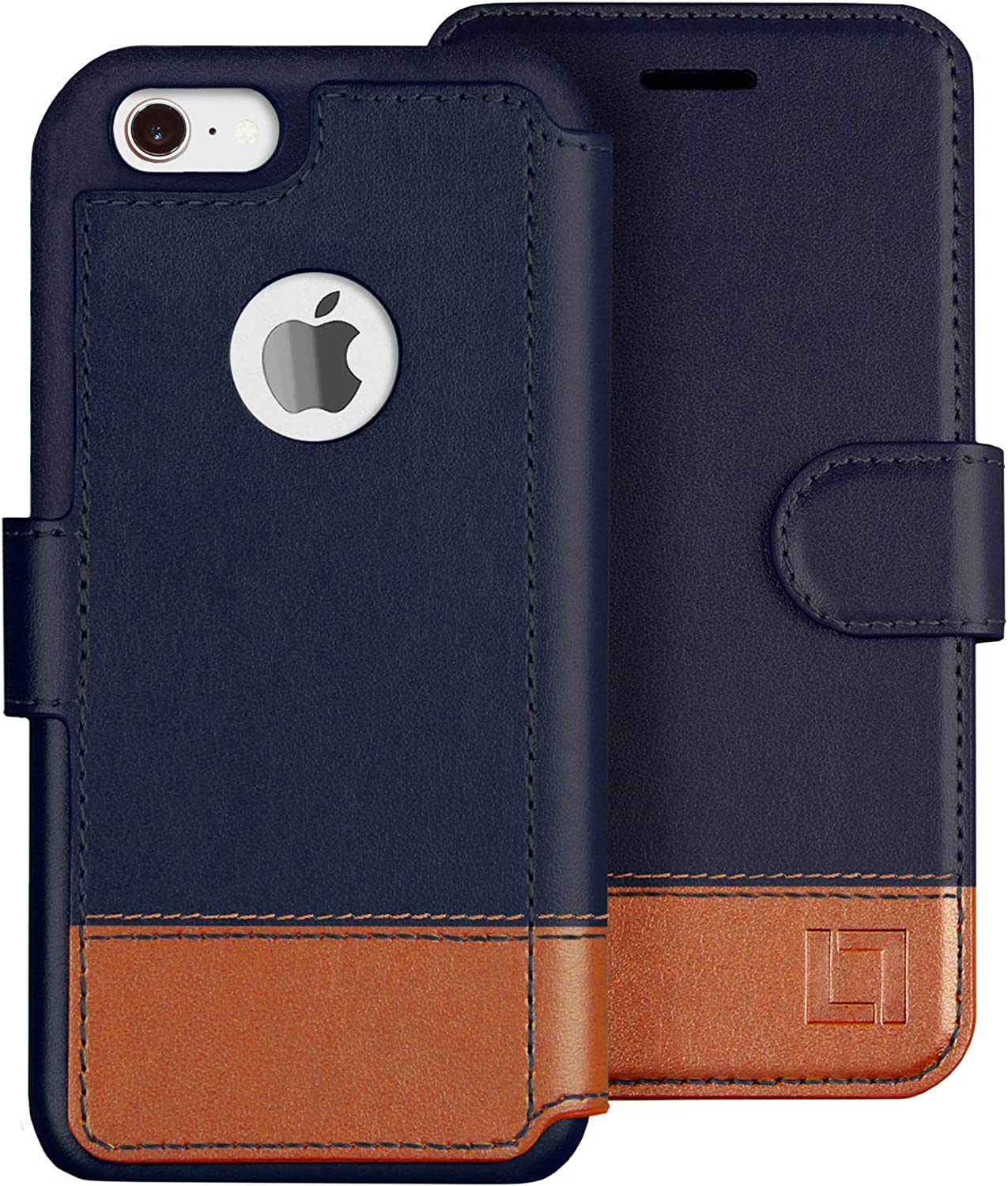 LUPA iPhone 6S plus wallet case, iPhone 6 plus Wallet Case, Durable and Slim, Lightweight with Classic Design & Ultra-Strong Magnetic Closure, Faux Leather, Desert Sky, For Apple iPhone 6s plus/6 plus