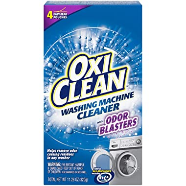 OxiClean Washing Machine Cleaner with Odor Blasters, 4 Count